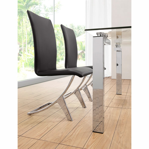 Delfi Dining Chairs in Black - ZM-102101