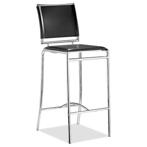 "Soar 28.5"" Bar Chair - Chrome, Leatherette"