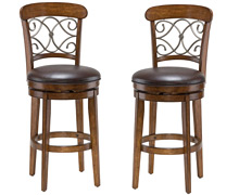Rustic Bar Stools  sc 1 st  DCG Stores & Bar Stools: Kitchen Swivel Counter Stools at DCG Stores islam-shia.org