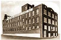The factory in Hartford, CT, where Isadore Naboicheck began building Gold Bond mattresses.