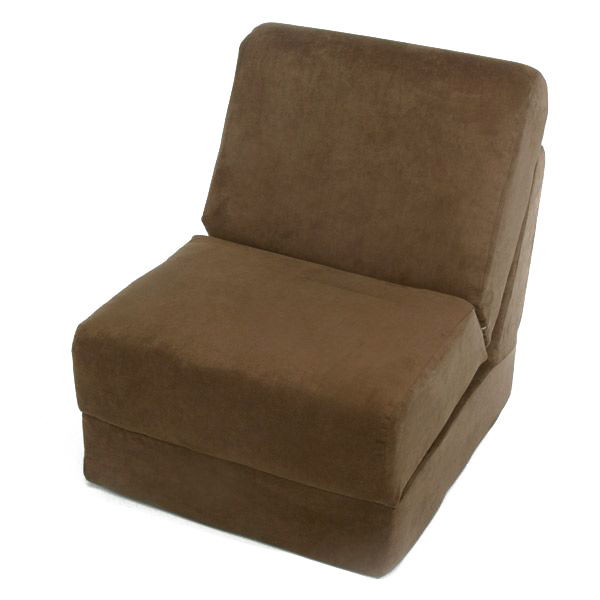 Teen Chair Sleeper in Brown Micro Suede. Your Price: $189.00