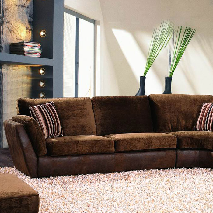 Metropolitan Multi Toned Brown Sectional - ABB-ABBL122