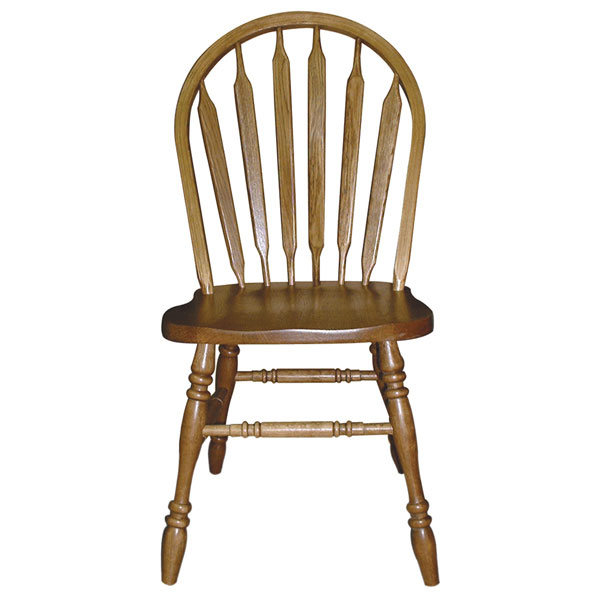 Arrowback Side Chair in Medium Oak