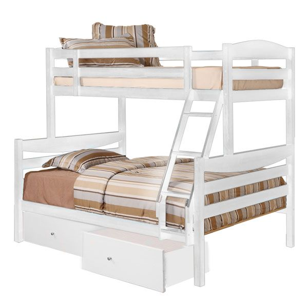 Royalton Twin / Double Size Bunk Bed with Drawers in White
