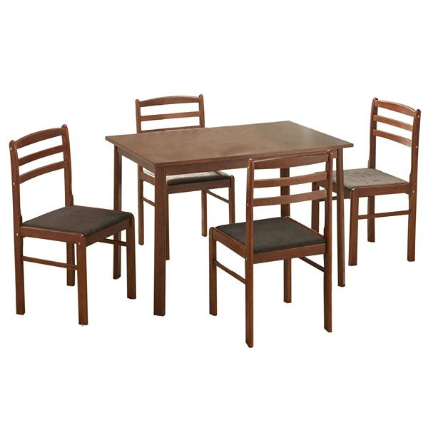 Carrera 5-Piece Dining Set in Brown
