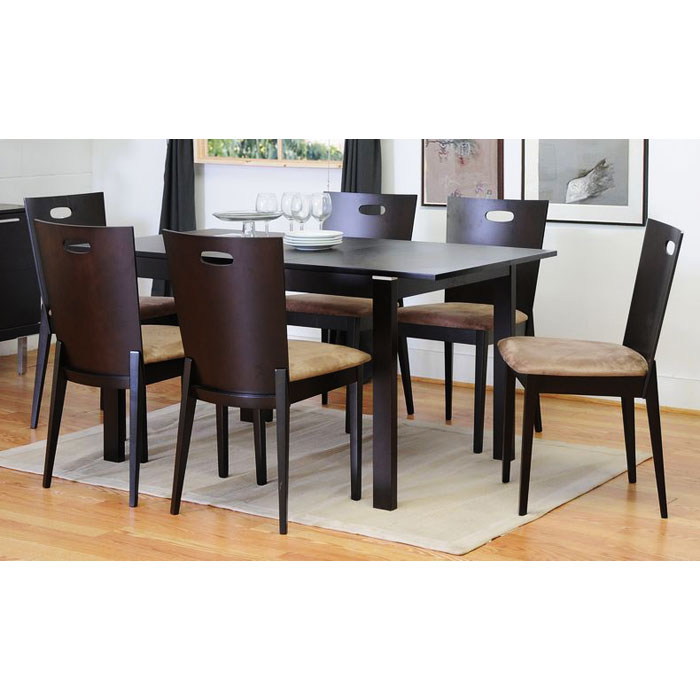 Lockerbie 7 Piece Dark Brown Dining Set
