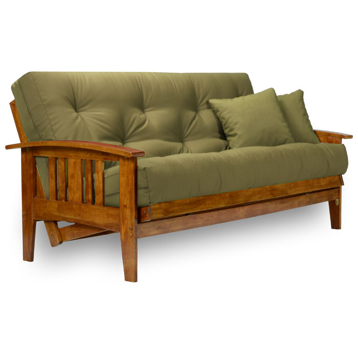 Westfield Wood Futon Frame Heritage Finish Nf Wfld