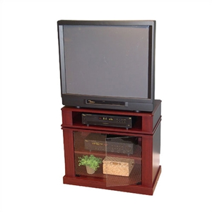 Swivel Top 31 TV/DVD Cart in Cherry