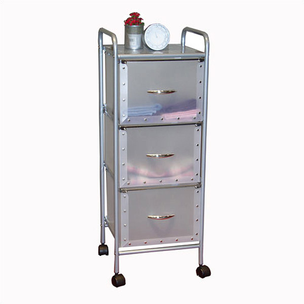 storage drawers on wheels 3 Drawer Storage Unit with Wheels   DCG Stores storage drawers on wheels