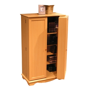 CD DVD Storage Cabinet in Beech