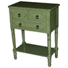 Simple Simplicity 3-Drawer Tall Nightstand - Cottage Green