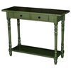 Simple Simplicity Wood Sofa Table - Turned Legs, Cottage Green