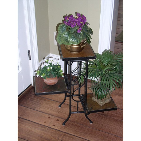 3 Tier Plant Stand w/ Slate Top