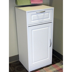 Bathroom Storage Cabinet - White, 1 Door, 1 Drawer