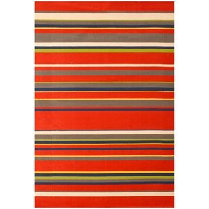 Jax Stripes Kids Rug - Red
