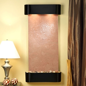 Cascade Springs Blackened Copper Frame Wall Fountain in Terra Red Featherstone