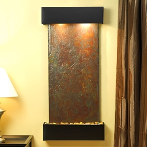 Cascade Springs Rajah Slate Wall Fountain with Square Edge