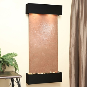 Cascade Springs Square Edge Wall Fountain in Terra Red Featherstone