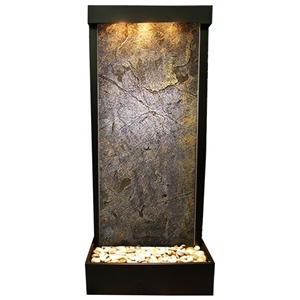 Harmony River Blackened Copper Frame Floor Fountain in Green Featherstone