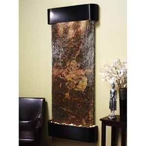Inspiration Falls Rajah Slate Wall Fountain with Blackened Copper Frame