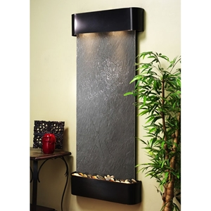 Inspiration Falls Black Featherstone Wall Fountain - Blackened Copper Frame