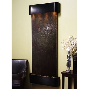Inspiration Falls Blackened Copper Frame Wall Fountain in Rajah Featherstone