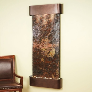 Inspiration Falls Rajah Slate Wall Fountain with Copper Vein Frame