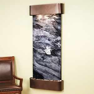 Inspiration Falls Copper Vein Frame Wall Fountain - Black Spider