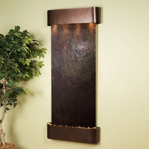 Inspiration Falls Copper Vein Frame Wall Fountain in Rajah Featherstone