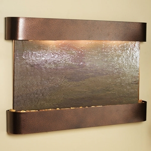Sunrise Springs Rajah Featherstone Wall Fountain - Copper Vein Frame