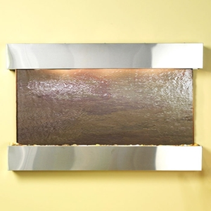 Sunrise Springs Rajah Featherstone Wall Fountain - Stainless Steel Frame