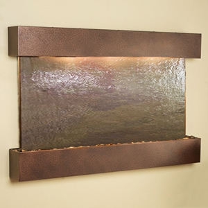 Sunrise Springs Rajah Featherstone Wall Fountain - Square Edge Copper Vein Frame