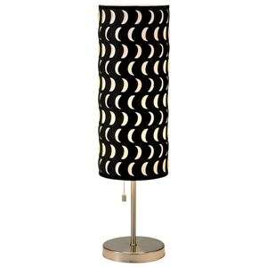Vibe Table Lamp with Crescent Cut-Outs