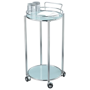 Cosmopolitan Round Glass Bar Cart