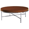 Galleria Round Cocktail Table - Stainless Steel, Latte on Birch - ACD-20601-01R-LT