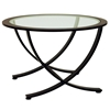 Wellington Nesting Tables Set - Oil Rubbed Bronze, Glass Inlay - ACD-20902-3-PC-SET