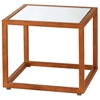 Grace Nesting Tables Set - Gold Leaf Metal, Mirror Glass Inlay - ACD-20903-55