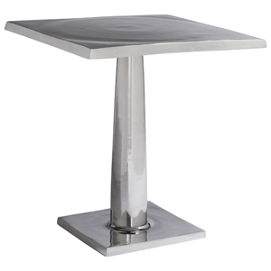 Surina Contemporary End Table - Cast Aluminum, Square Top