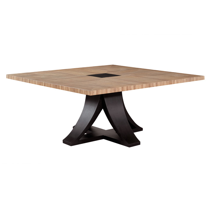 Bonita 66 Square Dining Table Zebrawood Mocha On Oak Acd
