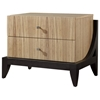 Bonita 2-Drawer Nightstand - Zebrawood, Mocha on Oak - ACD-30703-28