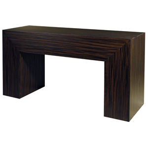 Melrose Wood Console Table - Macassar Ebony Finish
