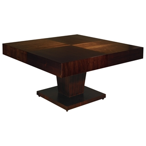 Sarasota Two Tone Dining Table - Walnut, Square Top