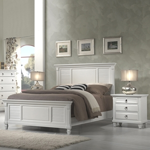Winchester Shutter Panel Bedroom Set - White