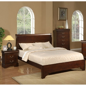 West Haven Sleigh Bedroom Set - Cappuccino