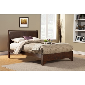 West Haven Sleigh Bed - Cappuccino
