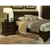 Chesapeake Sleigh Bed with Nightstands in Cappuccino - ALP-3200-3202-3PC-SET
