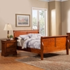 Louis Philippe Bedroom Set - Medium Cherry - ALP-370-BED-SET