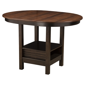 Davenport Pub Table - Espresso Finish, Walnut Top