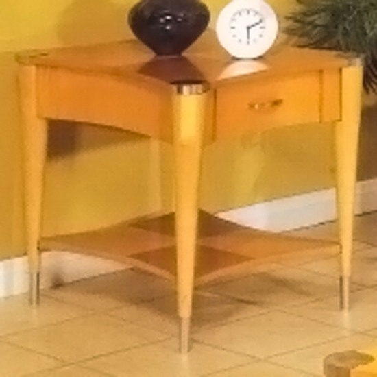 Sausalito Wood End Table in Natural Finish