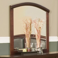 Atherton Mirror in Merlot Finish